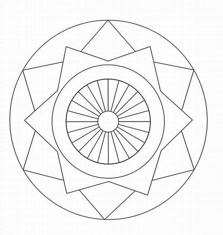 Geometric Design Coloring Pages 5 LRG 5944 KB Rating 110 Full Size