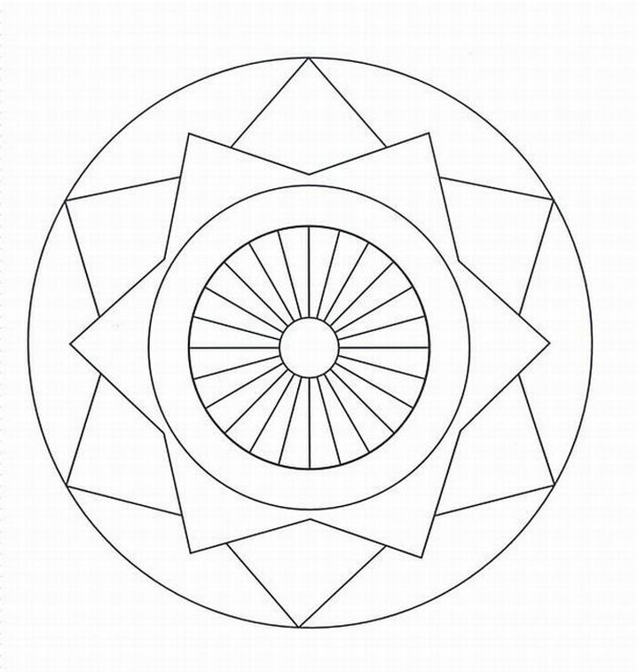 free mandala pattern adult coloring pages 3 LRG / 60.84 KB / Rating: 107 ...